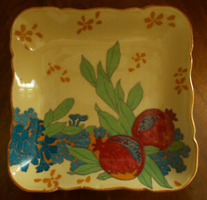 Royal Doulton Art Nouveau Pomegranate Square Dish Rare D1570 Ebay