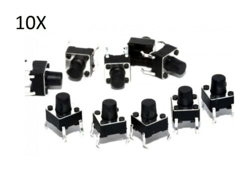 10 Boutons Tactile 6x6x7 mm Circuit Arduino Micro Mini Interrupteur Button Pcb