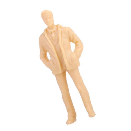100x Personen Figur unbemalter Zug Modell 1:50 O Maßstab