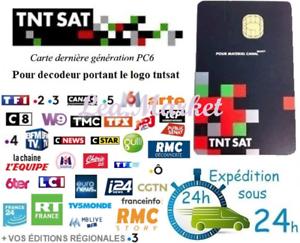 ✅ CARTE TNTSAT HD NEUVE - Décodeur Satellite ASTRA 🚀 LIVRAISON EXPRESS !