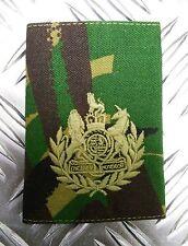 Genuine British Army Woodland DPM Camo DR WO1  Rank Slide / Epaulette - NEW