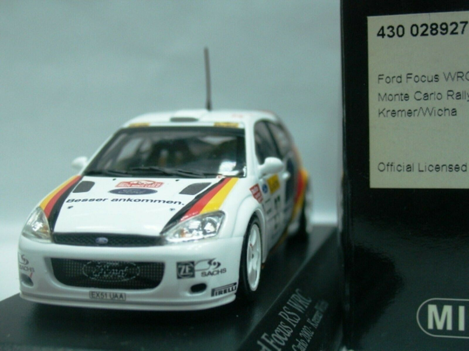 Wow extrêmeHommest rare FORD FOCUS RS WRC 2002 KREMER M.  voiturelo 1 43 Minichamps  Stade Cadeaux