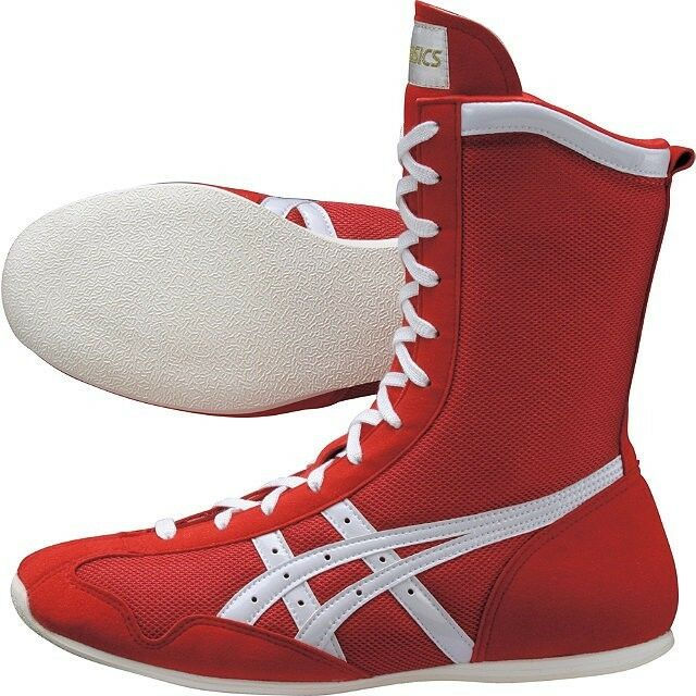 ASICS Boxing shoes MS Model Red TBX704 Made in JAPAN