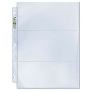 200-Ultra-Pro-3-Pocket-CURRENCY-COUPON-Page-Sheet-Boxes