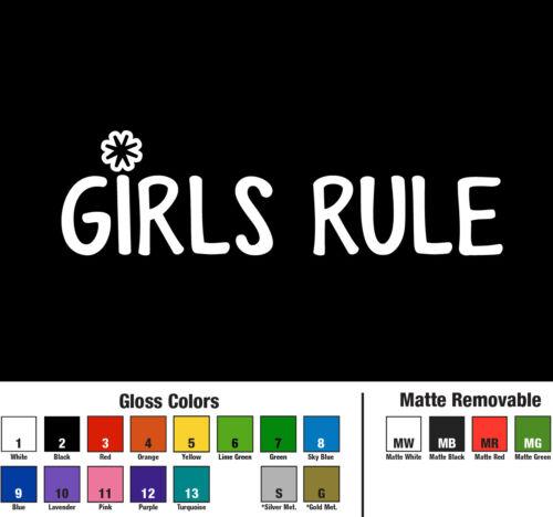 Girls Rule Decal Window Bumper Sticker Car Decor Power Love Life Kids FunTeam