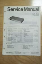 Technics Service Manual for the ST-S3 Tuner