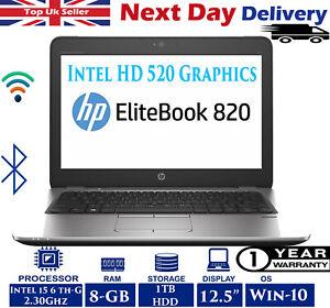 HP-EliteBook-820-G3-12-5-034-Laptop-Intel-i5-6th-Gen-2-30Ghz-8GB-RAM-1TB-HDD-Win-10