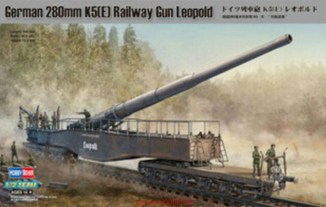 HobbyBoss 82903 1//72 German 280mm K5 e Railway Gun Leopold for sale online