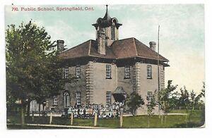 Elgin-County-SPRINGFIELD-ONTARIO-Public-School-Circa-1909-Publisher-Stedman-Bros