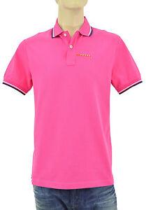 250-Prada-rose-fuchsia-Piquet-Homme-100-Coton-Polo-Shirt-Taille-nouvelle-collection