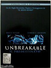 Dvd Unbreakable - Il predestinato - Collector's Edition digipack 2 dischi Usato