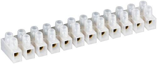 Lüsterklemme transparent weiß 12er Reihe doppelte Schraubklemme 16mm² max.15A
