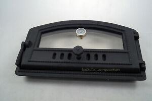 Oven-Door-Cast-Iron-Pizza-Oven-Door-With-Thermometer-Rauchereitur-Black