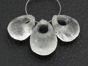 Natural-Rough-Crystal-Quartz-Pear-Briolette-Gemstone-Beads