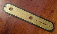 Telecaster control cover.. Gold Flake / Black Outline JAT CUSTOM GUITAR PARTS...