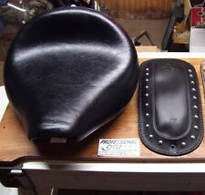 Yamaha XVS650 V-Star 650 Classic Stock Driver Solo Seat With Fender Cover Bib