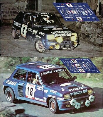Calcas Renault 5 Turbo Rallye MonteCarlo 1982 76 Slot decals Touren
