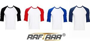 cb9ec8d06 Raftaar® Unisex 100% Cotton Light Baseball Raglan Full Long Sleeve T ...