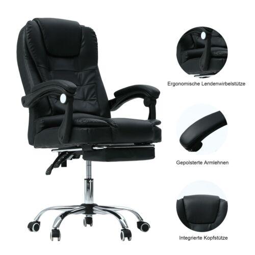 Drehstuhl Bürostuhl Chefsessel Büro Stuhl Schwarz Schreibtischstuhl Bürosessel