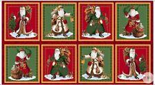 """Fabric Panel Christmas Santa Clause Father Christmas 19/"""" tall"""