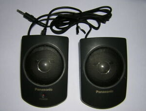 Vintage-Panasonic-Portable-Stereo-Mini-Speakers-Battery-Powered-for-CD-ROM-Drive
