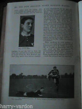 Rugby Union Wales Scotland New Zealand Controversy Rare Old Antique Article 1906