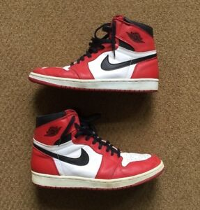 e77d583a68a Nike Air Jordan 1 (I) 1994 Retro White Black-Red - Size 11.5