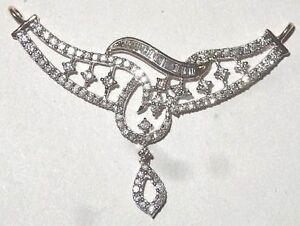 2-44cts-Natuerlicher-Diamant-14k-Weiss-Gold-Hochzeitstag-Mangalsutra-Halskette