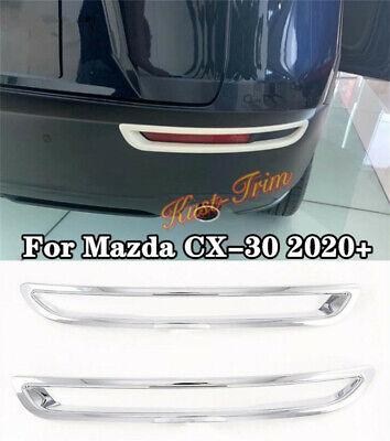 Chrome FOR 2020 2021 Mazda CX-30 ABS Rear Bumper Fog Light ...