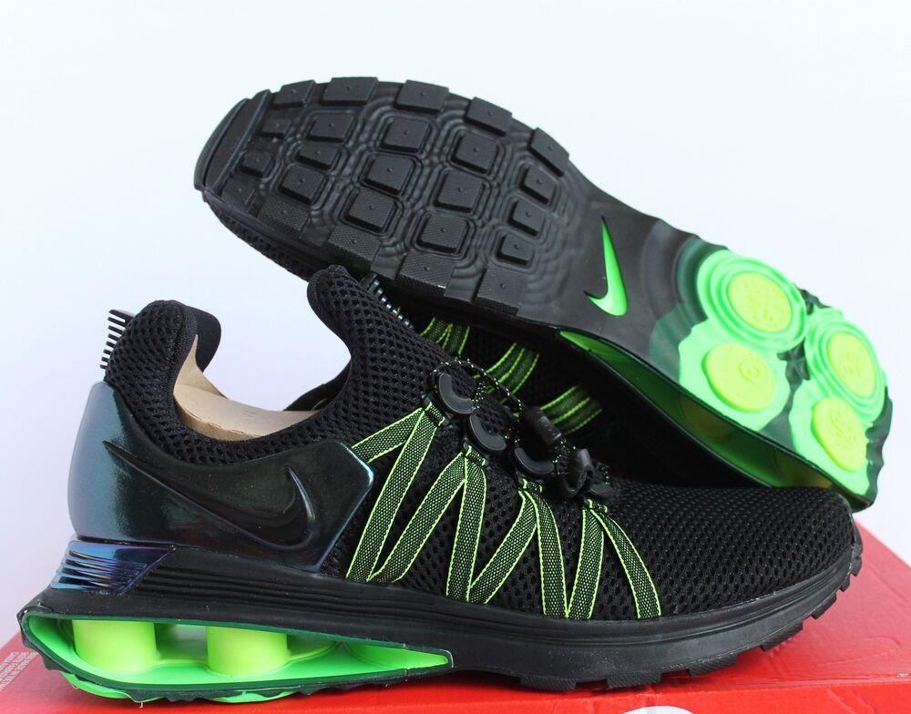 NIKE SHOX GRAVITY TURBO NZ Noir-Noir-GORGE GREEN  Chaussures de sport pour hommes et femmes