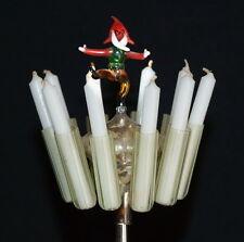 Seltene Christbaumspitze mit Kerzenhalter und tanzendem Zwerg (# 5247)