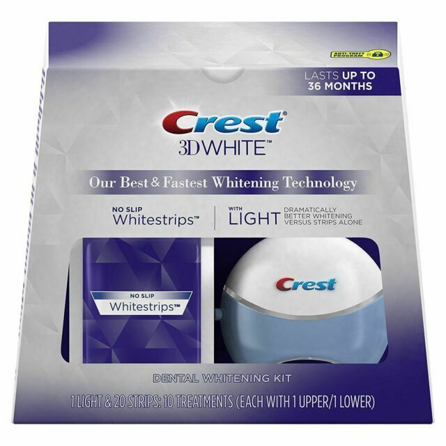Crest 3d White Whitestrips With Light Teeth Whitening Strips 10