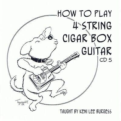 CD 5 Cigar Box Guitar 4 string video lessons baritone uke banjo tenor keni lee