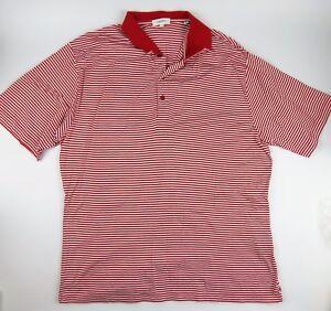 63eefb86235d Calvin Klein Golf Polo Shirt size XL Cotton Red & White Stripe | eBay
