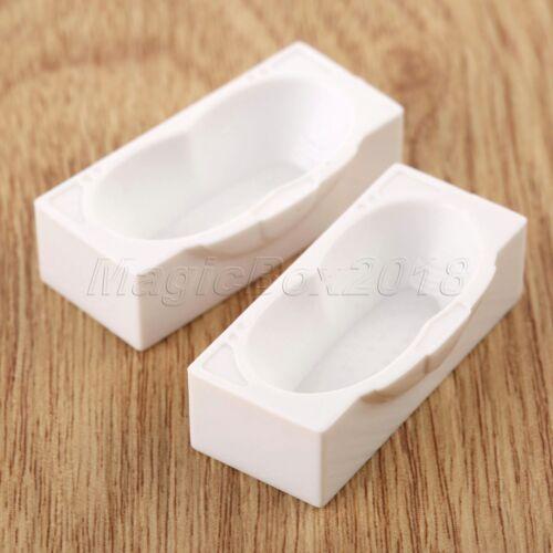 Bath Tub Toilet Washstand Doll House Miniature Bathroom Suite 1:50 Scale White