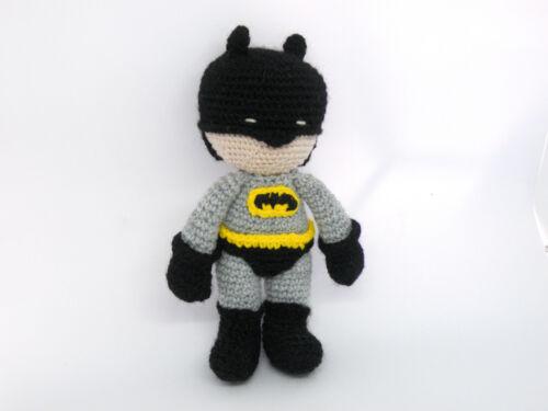 Handmade Crochet Amigurumi Batman TV Film Soft Toy Gift