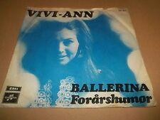 """VIVI-ANN """" BALLERINA """" 7"""" SINGLE VG/VG 1974"""