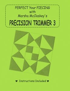 Details about Precision Trimmer 3, PT3, Acrylic Ruler, Marsha McCloskey,  Quilt Piecing Ruler