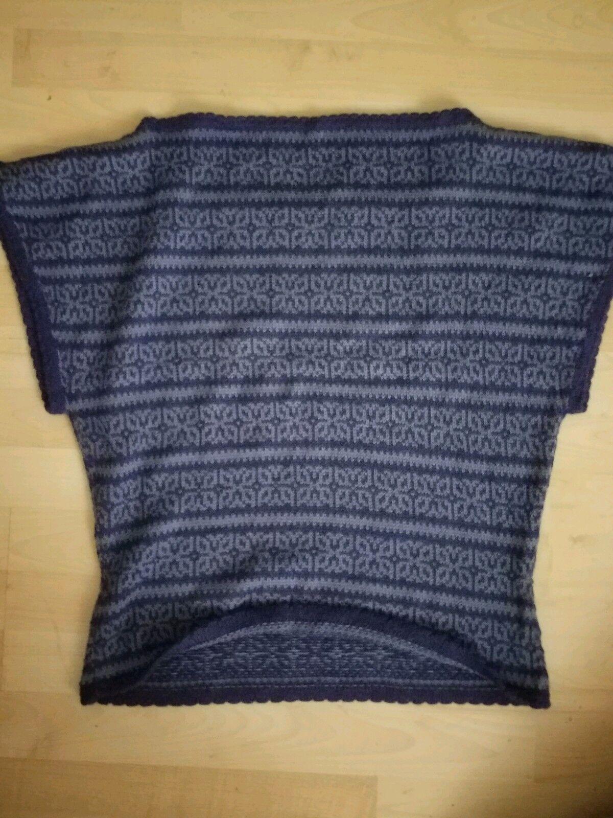 Alpaka 100 % Pollunder Weste Weste Weste Pullover blau Gr. M Herren | Hohe Qualität und günstig  550231