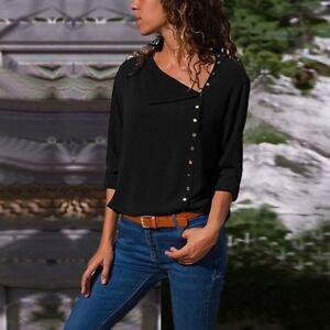 Womens-Long-Sleeve-Loose-Blouse-Casual-Shirt-Summer-Chiffon-Tops-T-Shirt-Blouse