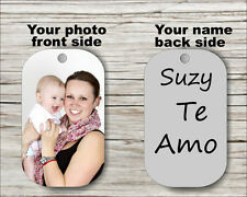 TE AMO PERSONALIZED CUSTOM DOG TAG PENDANT NECKLACE -hdt5Z