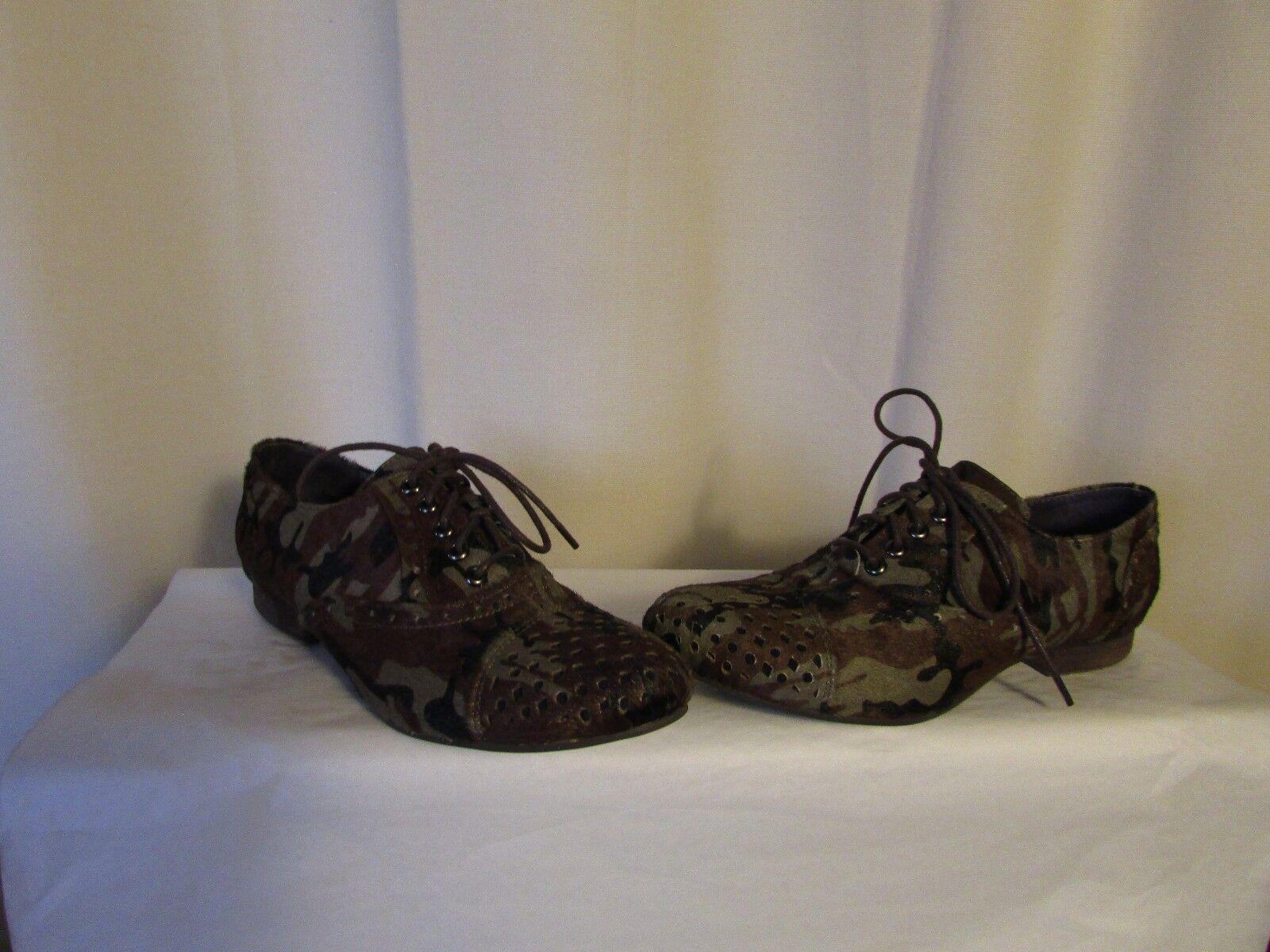Chaussures COULEUR POURPRE poil de poulain camouflage 36
