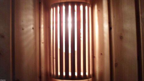 Lampenschirm Holzblendschirm Saunalampe Sauna
