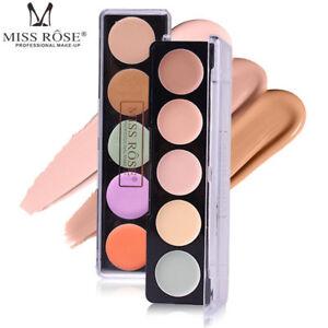 5-Colors-Concealer-Highlighter-Palette-MISS-ROSE-Makeup-Face-Cream-Contour-Kit