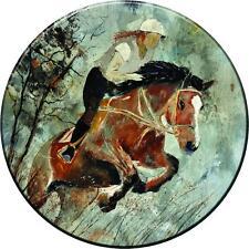 SPARE WHEEL COVER STICKER HORSE JUMPING CUSTOM DESIGN PERSONALISED VINYL SKIN