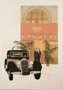 Original-Vintage-Poster-Noyer-Denis-Paul-Maxim-039-s-Restaurant-Paris-1979