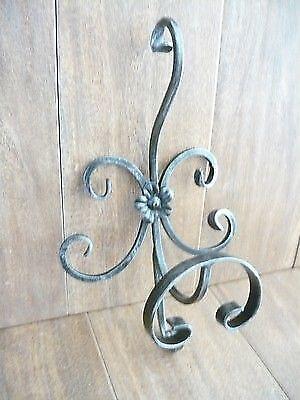 attaccapanni classico in ferro battuto pieno a parete 5 posti avorio