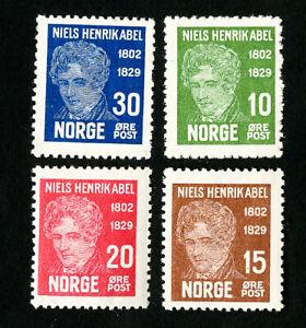 Norway-Stamps-145-8-VF-OG-NH-Catalog-Value-50-00