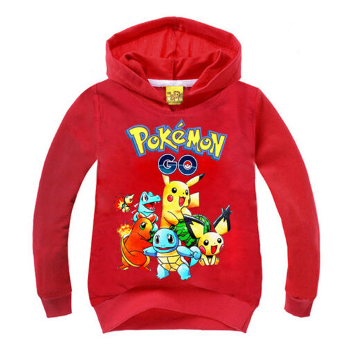 Cartoon Kids Boys Girls Hoodie Hooded Sweatshirt Pullover Hoody Tops Coat