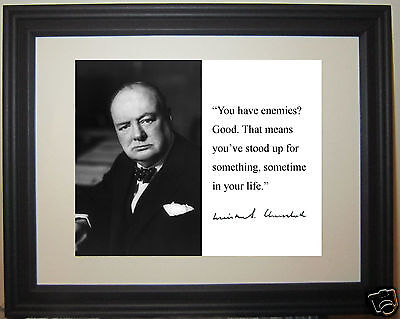 Winston Churchill Motivational Leadership Famous Quote 11 x 14 Photo Picture #p1